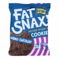 Fat Snax - Cookie Double Chocolate Chips 2ct - Case of 20-1.4 OZ - Case of 20 - 1.4 OZ each