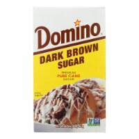 Domino Sugar - Dark Brown - Case of 24 - 1 Lb - Case of 24 - 1 LB each