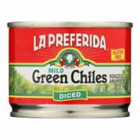 La Preferida Green Chiles - Diced - Case of 24 - 4 oz. - Case of 24 - 4 OZ each