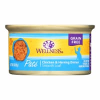 Wellness Pet Products Cat Food - Chicken and Herring - Case of 24 - 3 oz. - Case of 24 - 3 OZ each