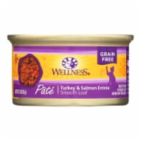 Wellness Pet Products Cat Food - Turkey and Salmon Recipe - Case of 24 - 3 oz. - Case of 24 - 3 OZ each