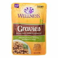 Wellness Cat Food-Gravies with Bits of Chicken and Turkey Smothered In Gravy-Case of 24-3 oz