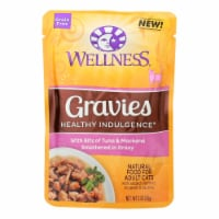 Wellness Cat Food-Gravies with Bits of Tuna and Mackerel Smothered In Gravy-Case of 24-3 oz