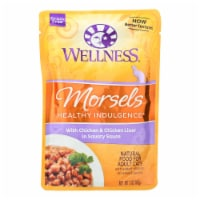 Wellness Pet Products Healthy Indulgence Morsels-Chicken n Chckn Liver Savry Sauce-24Case-3oz - Case of 24 - 3 OZ each