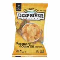 Deep River Snacks Rosemary & Olive Oil Kettle Chips  - Case of 24 - 2 OZ