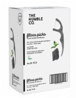 Humble Co. Floss Picks 2 in 1 Charcoal Infused With Mint Flavour - 4 x 50 pcs