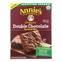 Annie's Homegrown Organic Double Chocolate Brownie Mix - Case of 8 - 18.3 oz. - Case of 8 - 18.3 OZ each