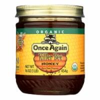 Once Again Killer Bee Honey, Pure Raw Organic Grade A  - Case of 6 - 1 LB - 1 LB