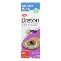 Breton/Dare - Crackers - Black Bean Onion and Garlic - Case of 6 - 4.2 oz. - 4.2 OZ