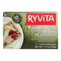 Ryvita Crisp Bread Crispbread - Pumpkin Seed and Oat - Case of 8 - 7 oz. - Case of 8 - 7 OZ each