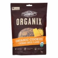 Castor and Pollux Organic Dog Cookies - Cheddar Cheese - Case of 8 - 12 oz. - Case of 8 - 12 OZ each