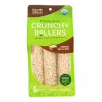 Crunchy Rollers - Roll Brown Rice - Case of 8 - 2.6 OZ - Case of 8 - 2.6 OZ each