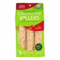 Crunchy Rollers - RollRice Aple Cinnamon - Case of 8-2.6 OZ - Case of 8 - 2.6 OZ each