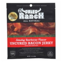 Paleo Ranch Uncured Bacon Jerky, Smoky BBQ Flavor,  - Case of 8 - 1.5 OZ - Case of 8 - 1.5 OZ each