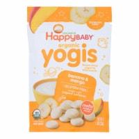 Happy Baby HappyMelts Organic Yogurt Snacks for Babies and Toddlers Banana Mango-1 oz- 8Case - Case of 8 - 1 OZ each