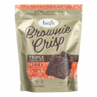 Lucy's - Brownie Crisps - Triple Chocolate - Case of 8 - 4.5 oz.
