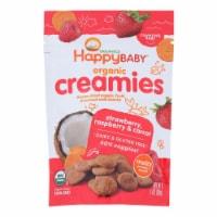Happy Creamies Organic Snacks - Strawberry and Raspberry - Case of 8 - 1 oz - Case of 8 - 1 OZ each