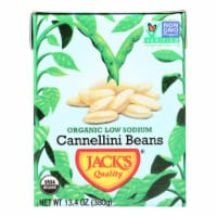 Jack's Quality Organic Cannellini Beans - Low Sodium - Case of 8 - 13.4 oz