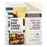 This Bar Saves Lives - Bar Dark Chocolate Peanut Butter 4 Pack - Case of 8 - 5.64 oz. - Case of 8 - 5.64 OZ each