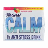 Natural Vitality Calm Counter Display - Raspberry Lemon - Case of 8 - 5 Packs - Case of 8 - 5 PK each