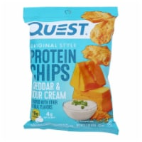Quest Cheddar & Sour Cream Protein Chips  - Case of 8 - 1.1 OZ - Case of 8 - 1.1 OZ each