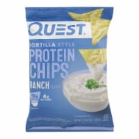 Quest Nutrition Ranch Tortilla Style Protein Chips, Ranch - Case of 8 - 1.1 OZ - Case of 8 - 1.1 OZ each