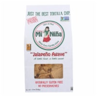 Mi Nina's White Corn Tortilla Chips With Jalapeno Aguave  - Case of 9 - 12 OZ