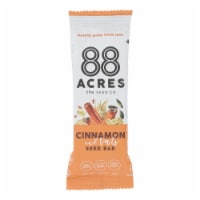 88 Acres - Seed Bars - Oats And Cinnamon - Case of 9 - 1.6 oz. - Case of 9 - 1.6 OZ each