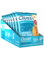 Quest Original Style Cheddar & Sour Cream Protein Chips Bags 8 Count