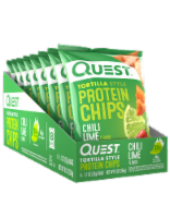 Quest Tortilla-Style Chili Lime Protein Chips 8 Count