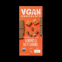 Vgan Chocolate- Vegan Almonds & Salty Caramel Chocolate Bar - 2.4 oz