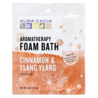 Aura Cacia - Foam Bath Sensual Cinnamon and Ylang Ylang - 2.5 oz - Case of 6