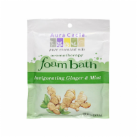 AURA CACIA INVIGORATING GINGER & MINT AROMATHERAPY FOAM BATH, 2.5 OZ. PACKET