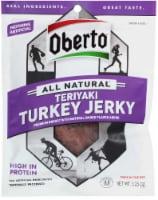 Oberto Natural Style Teriyaki Turkey Beef Jerky, 3.25 Ounce -- 8 per case. - 5