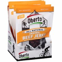 Oh Boy Oberto Natural Style Original Beef Jerky - 1.5 oz. bag, 48 per case - 6-8-1.5 OUNCE