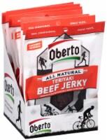 Oh Boy Oberto Natural Style Teriyaki Beef Jerky - 1.5 oz. bag, 48 per case - 5