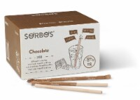 SORBOS Edible Straws, Chocolate Flavor, Individually Packaged, 200 Count - 200 count