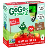 GoGo Squeez Apple Strawberry Applesauce Pouches