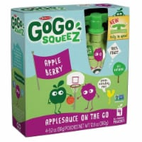GoGo Squeez Apple Berry On The Go Applesauce, 3.2 Ounce -- 48 per case.
