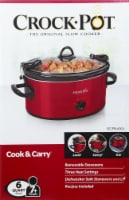 Crock-Pot® Cook & Carry Portable Slow Cooker - Red