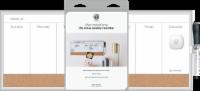 U Brands Dry Erase Weekly Calendar - White/Silver
