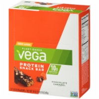 Vega Chocolate Caramel Protein Snack Bars 12 Count