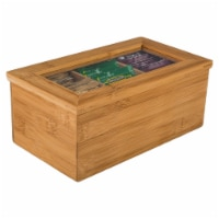 BIA Cordon Bleu Natural Living Bamboo 3 Compartment Tea Storage Box
