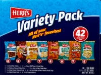 Herr's Potato Chips and Snack Bags Variety Pack 42 Count