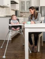 Regalo Portable High Chair - White/Gray