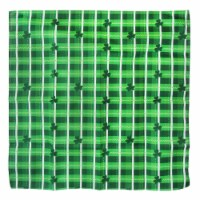 Ampro St. Patrick's Day Plaid Bandana - Green