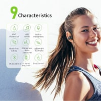 Letsfit U8L Bluetooth Headphones - Black/Gray