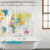 Everyday Living World Map PEVA Shower Curtain Perspective: front