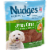 Nudges Natural Jerky Cuts with Chicken Adult Dog Treats Perspective: left