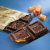 Ghirardelli Dark Chocolate with Sea Salt Caramel Filling Bar Perspective: left
